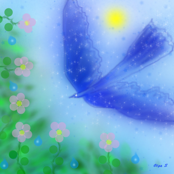 иллюстрация к сказке синее пёрышко, автор Ольга Савченко Бастет