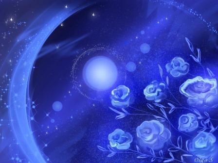 Иллюстрация Голубые сады неба, автор Ольга Савченко