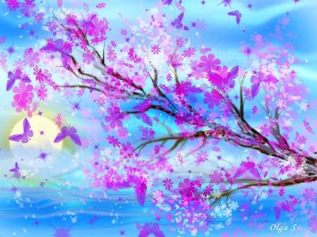 ветка, цветение , весна