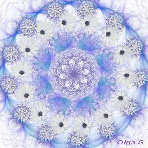 Мандала Зимний Цветок