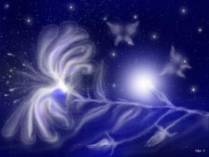 космический цветок