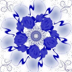 Мандала Синие Розы