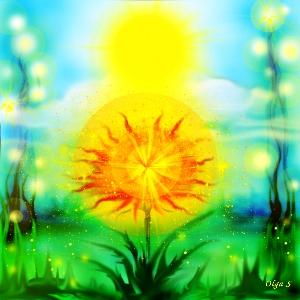 солнечный одуванчик-