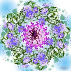 Мандала цветение весны