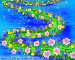 цветочная дорожка-