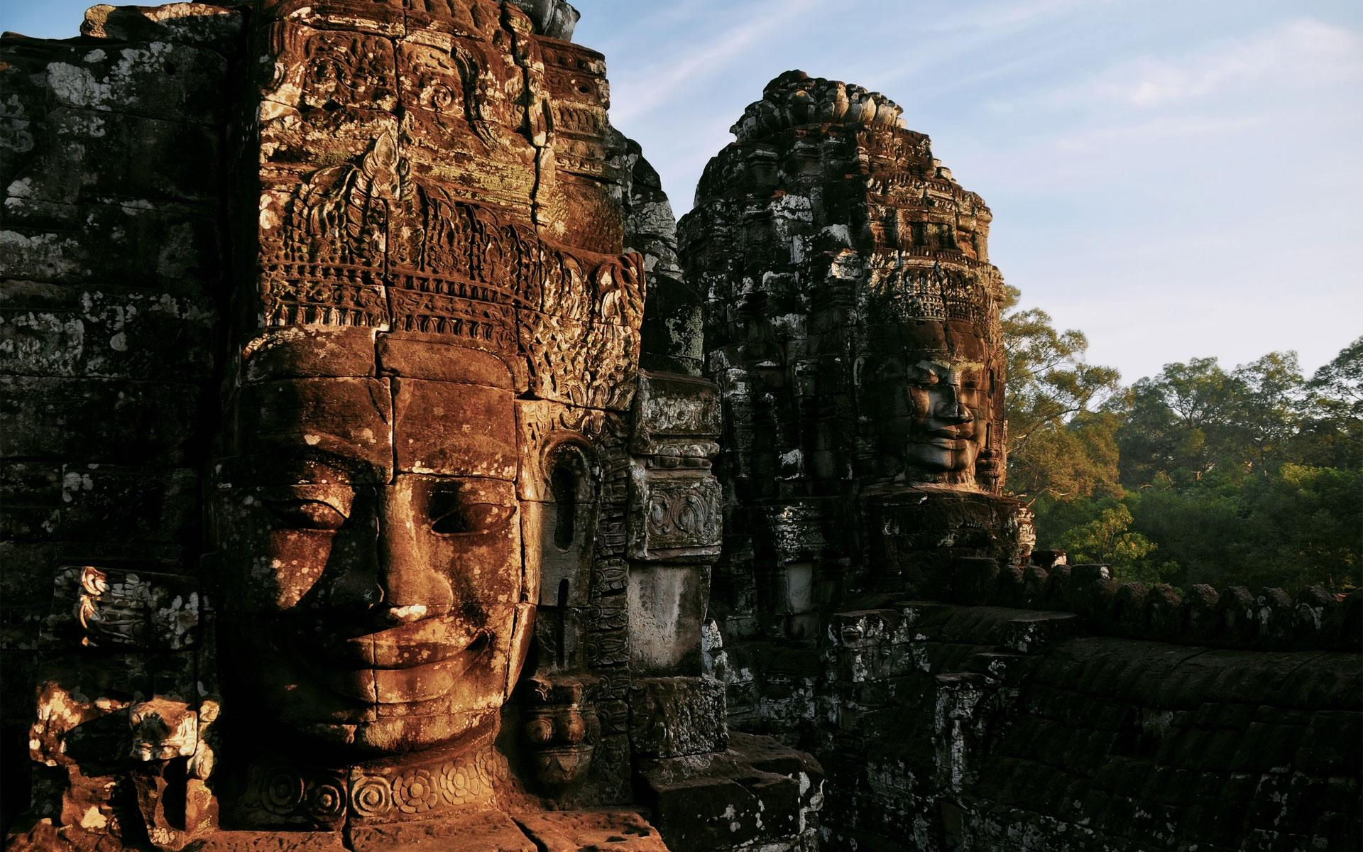 город, святилище, камбоджа, руины, храм